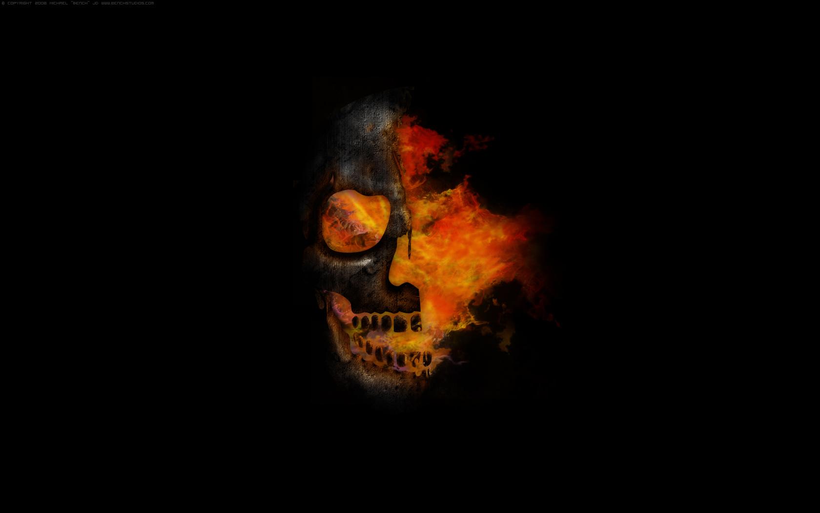fire skull by michaeldebevec on deviantart