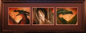 Drogon,Viserion,Rhaegal