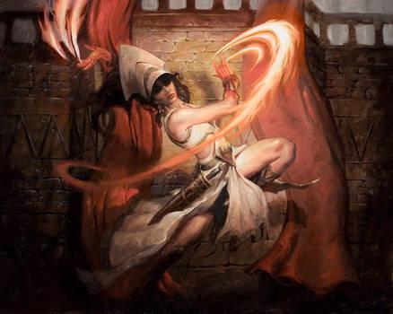 Flamespeaker Adept by LucasGraciano