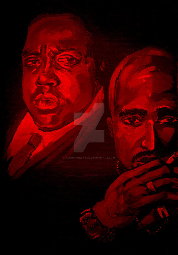 Biggie - 2pac by Alpha-Predator