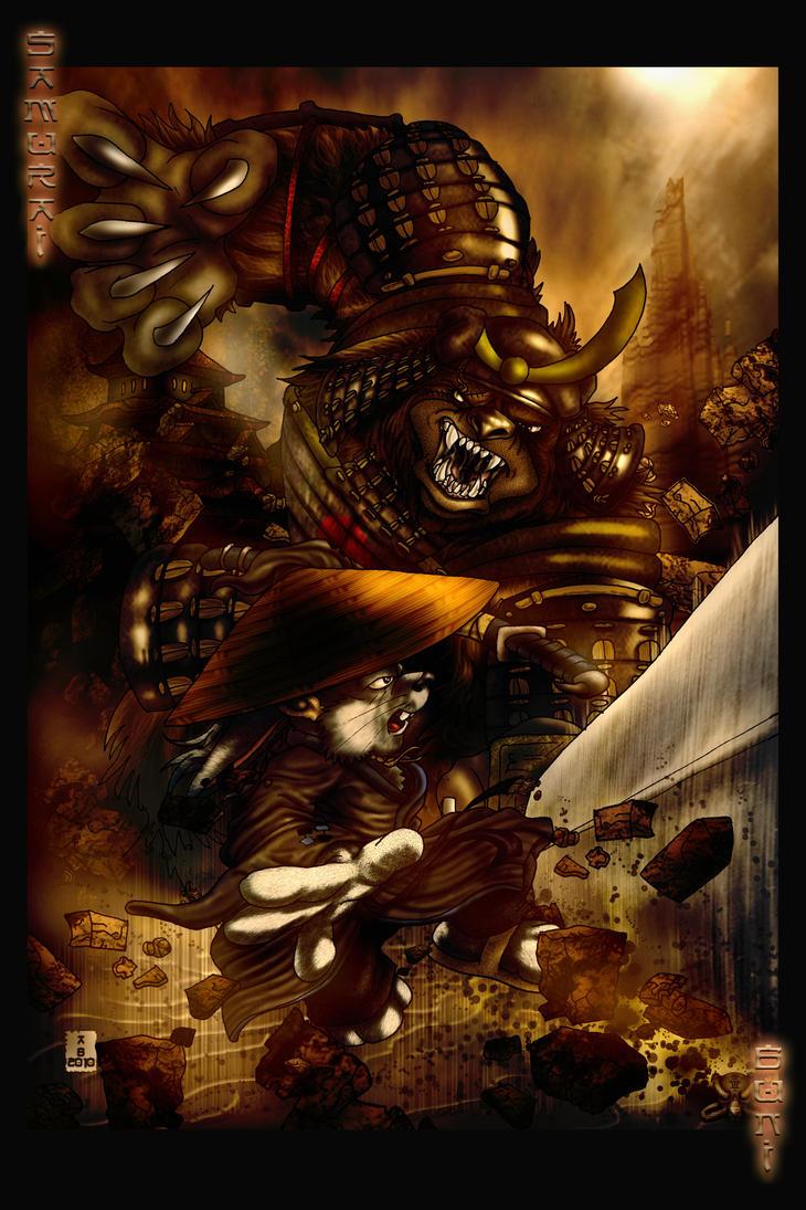 Samurai Buni vs Samurai Bear by Alpha-Predator