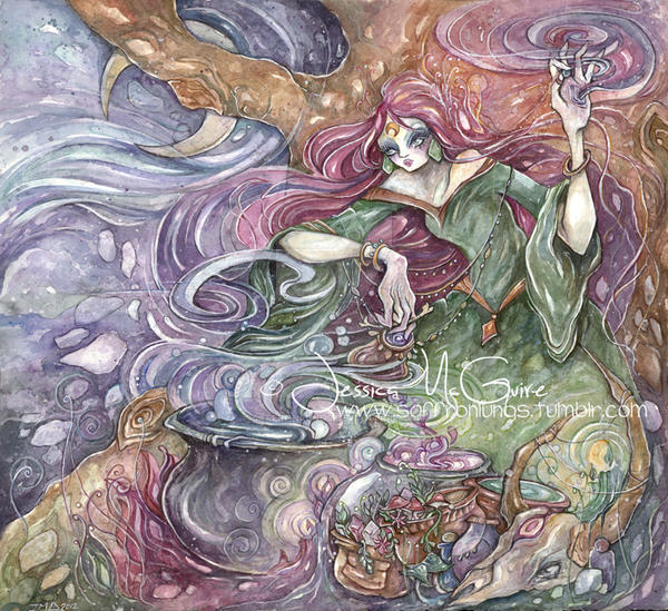 Green Witch by saffronlungs