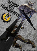 Alpha Company Poster: Actions Have Consequences by Derzelaz