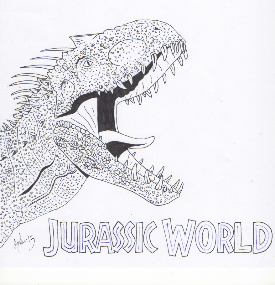 Indominus rex by predatorx20 on deviantart for Rex coloring pages