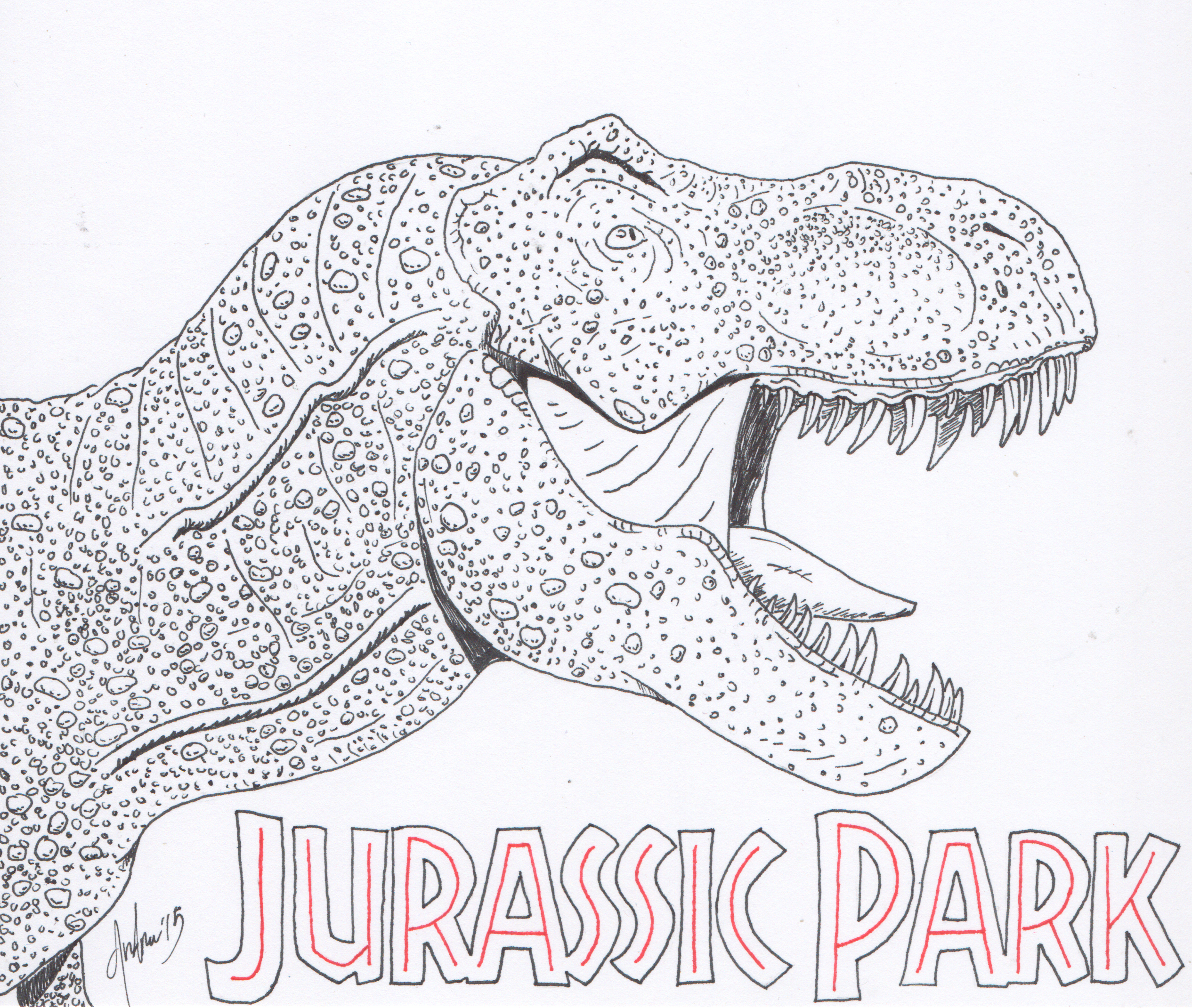 Increíble Parque Jurásico 3 Para Colorear Adorno - Dibujos Para ...