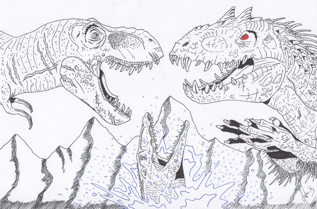 Jurassic World: Battle of Giants by predatorX20 on DeviantArt