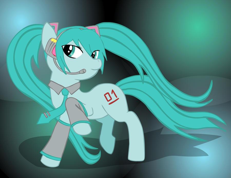 Hatsune Miku Pony Devansnape Request By Ktechnicolour On