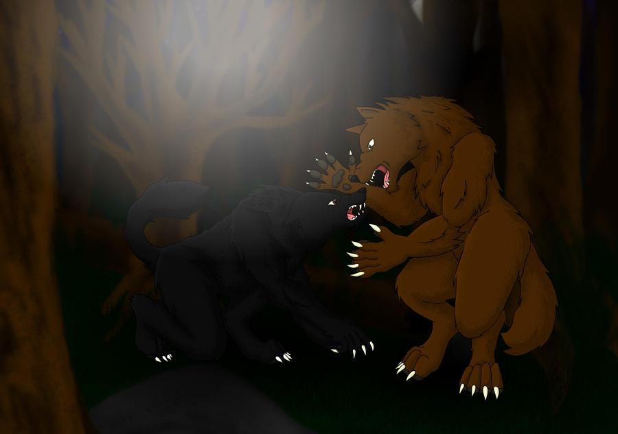 Werewolf Fight by KTechnicolour on DeviantArt