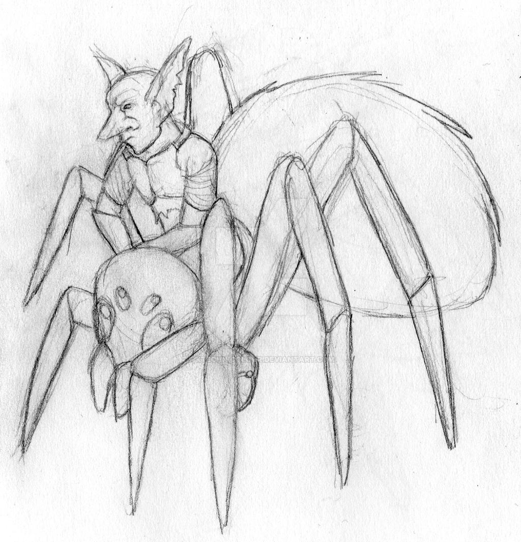 Goblin Spider Rider   - CG artwork by KTechnicolour