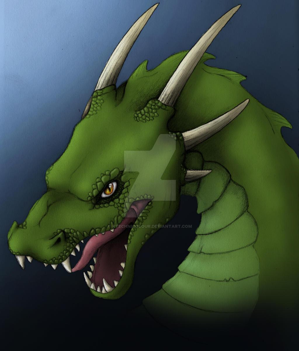 Dragon - green version by KTechnicolour