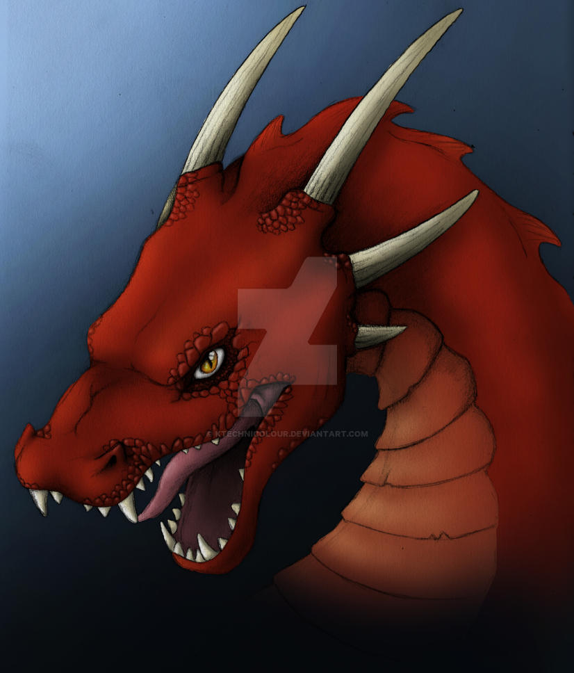 Dragon - red version by KTechnicolour