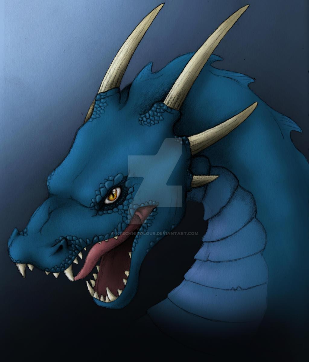 Dragon - blue version by KTechnicolour
