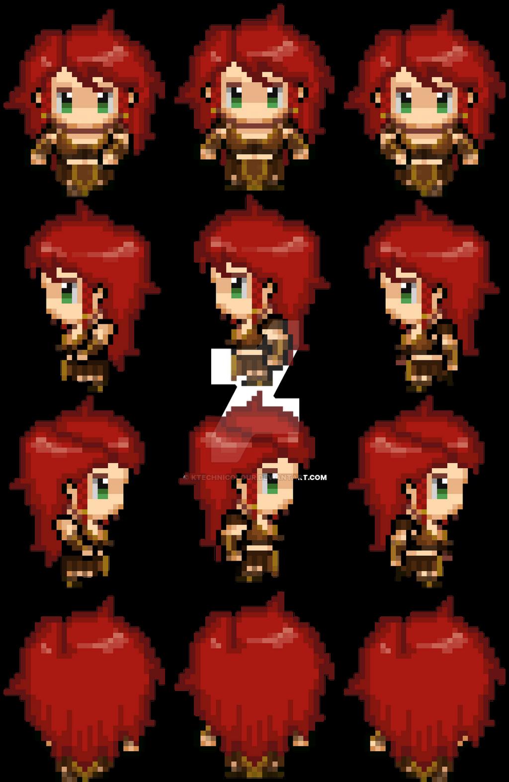 Character Set pixel practice - large scale - by KTechnicolour