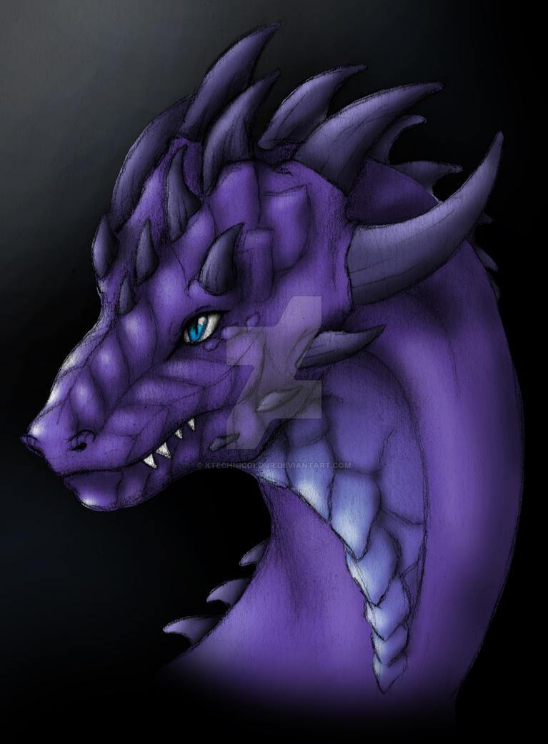 Purple Dragon by KTechnicolour