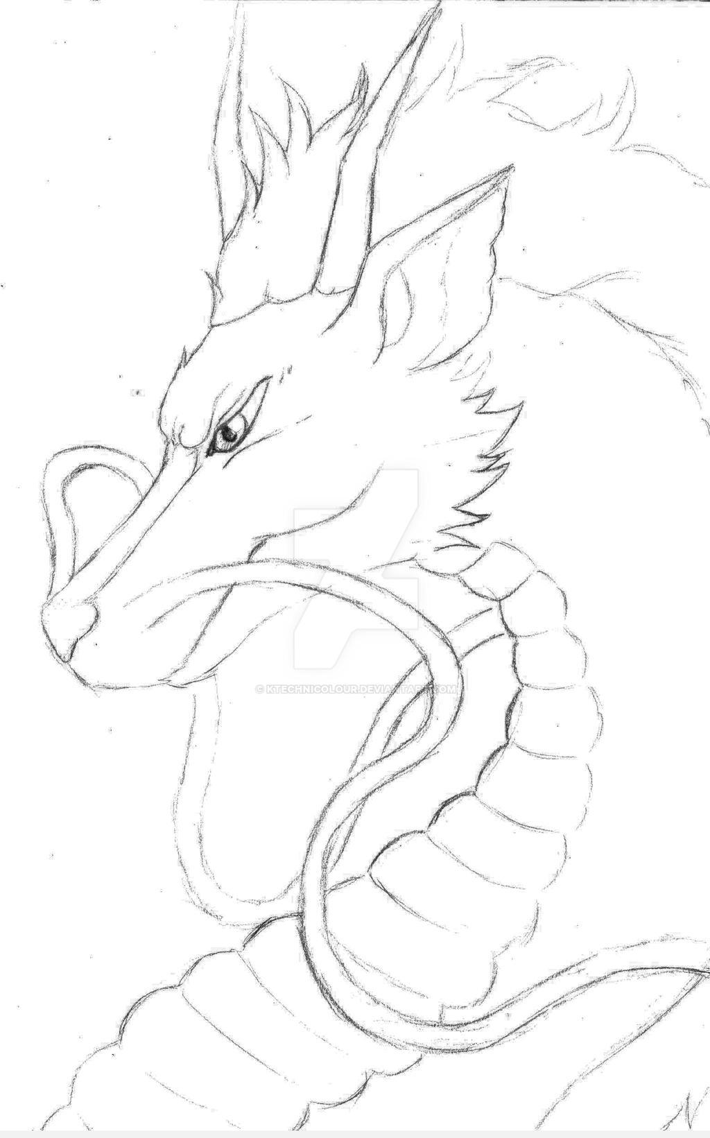 Haku Sketch by KTechnicolour