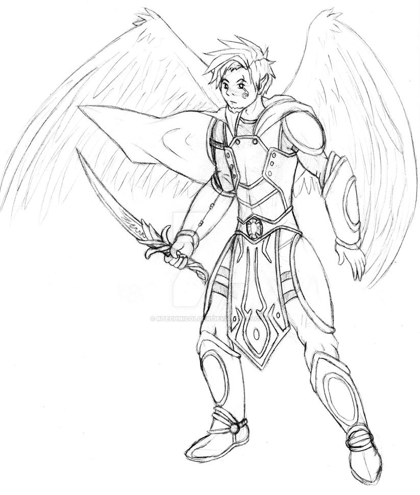 Angelic Paladin by KTechnicolour