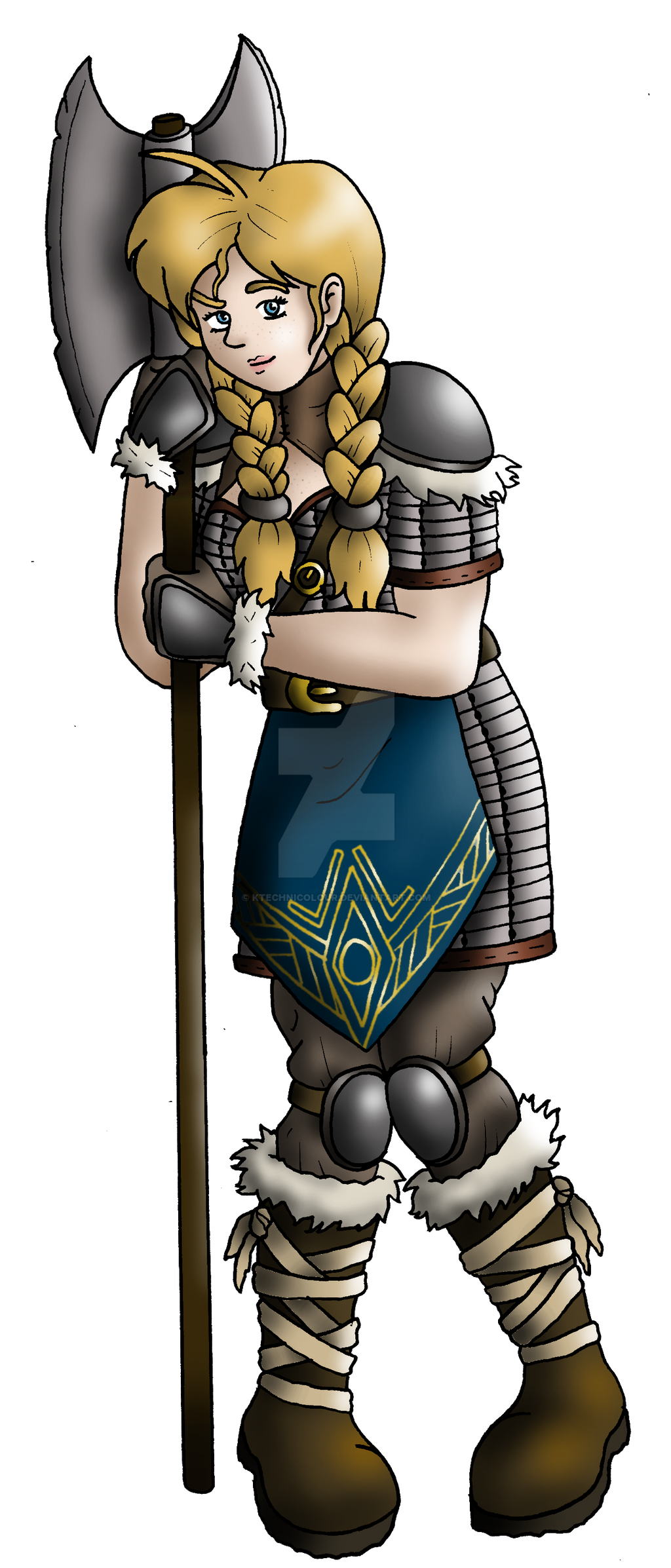 Yngrid The Linnorm Slayer by KTechnicolour