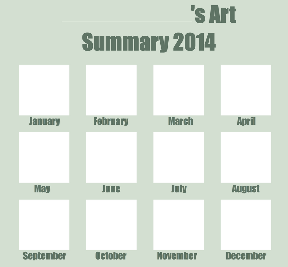Art Summary 2014 Template by KTechnicolour