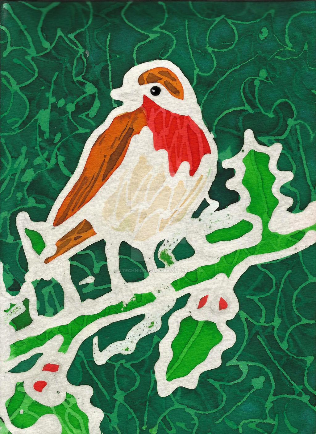 Christmas Robin by KTechnicolour