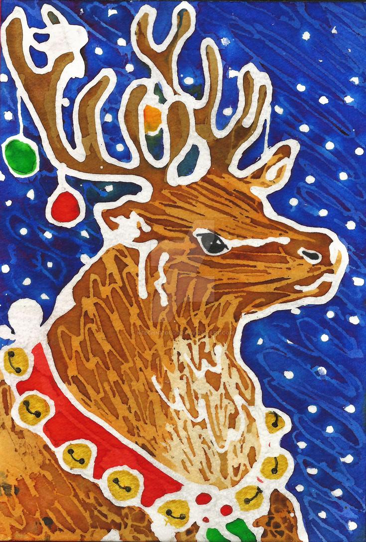 Christmas Reindeer by KTechnicolour