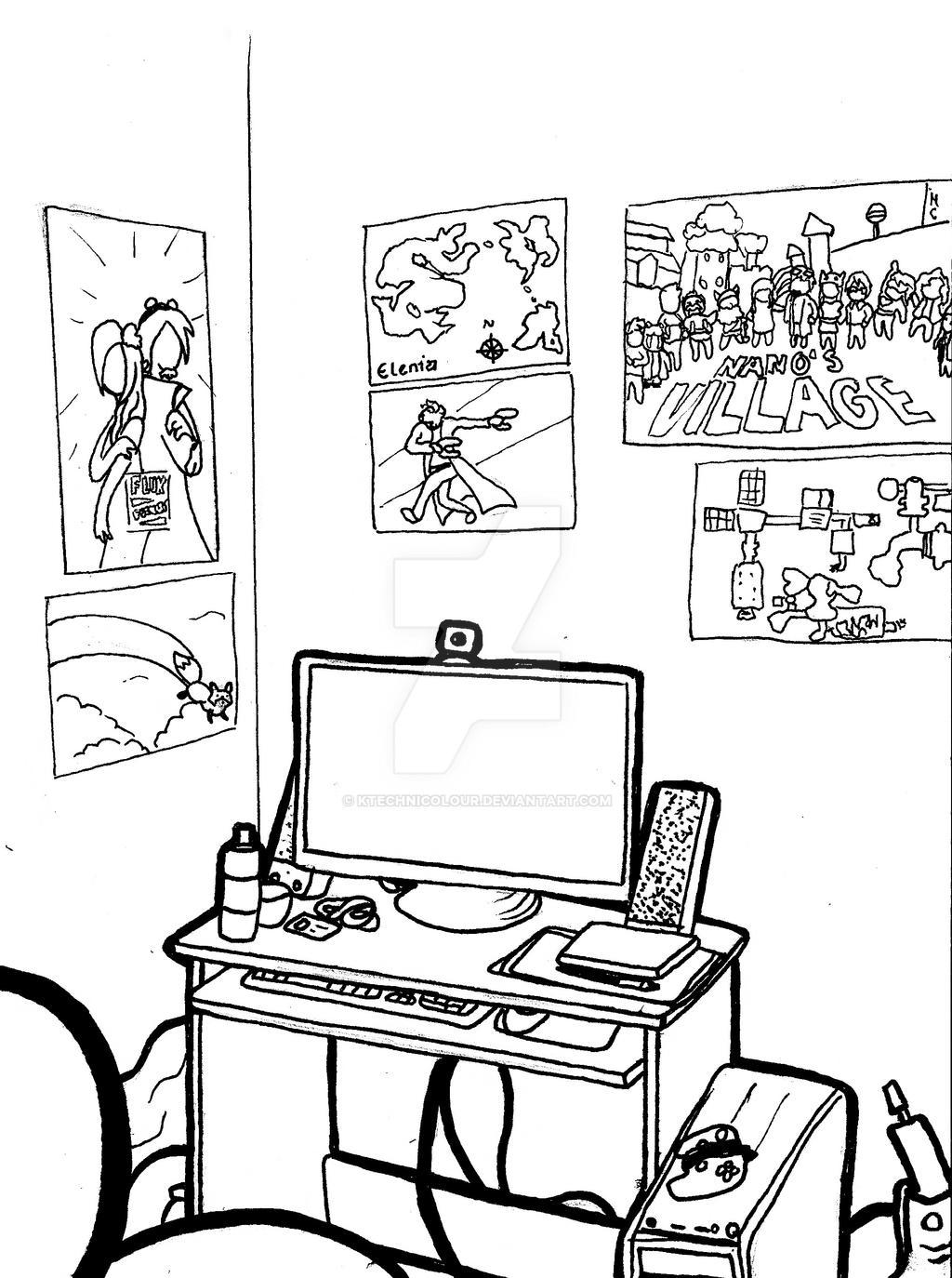 My Desk by KTechnicolour