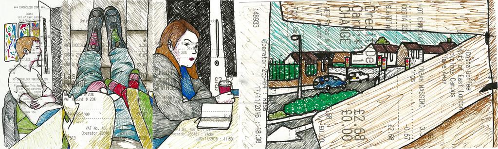 Receipt Doodles 2 by KTechnicolour
