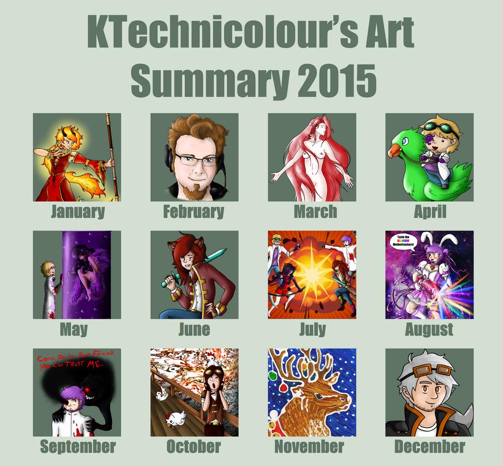2015 Art Summary by KTechnicolour