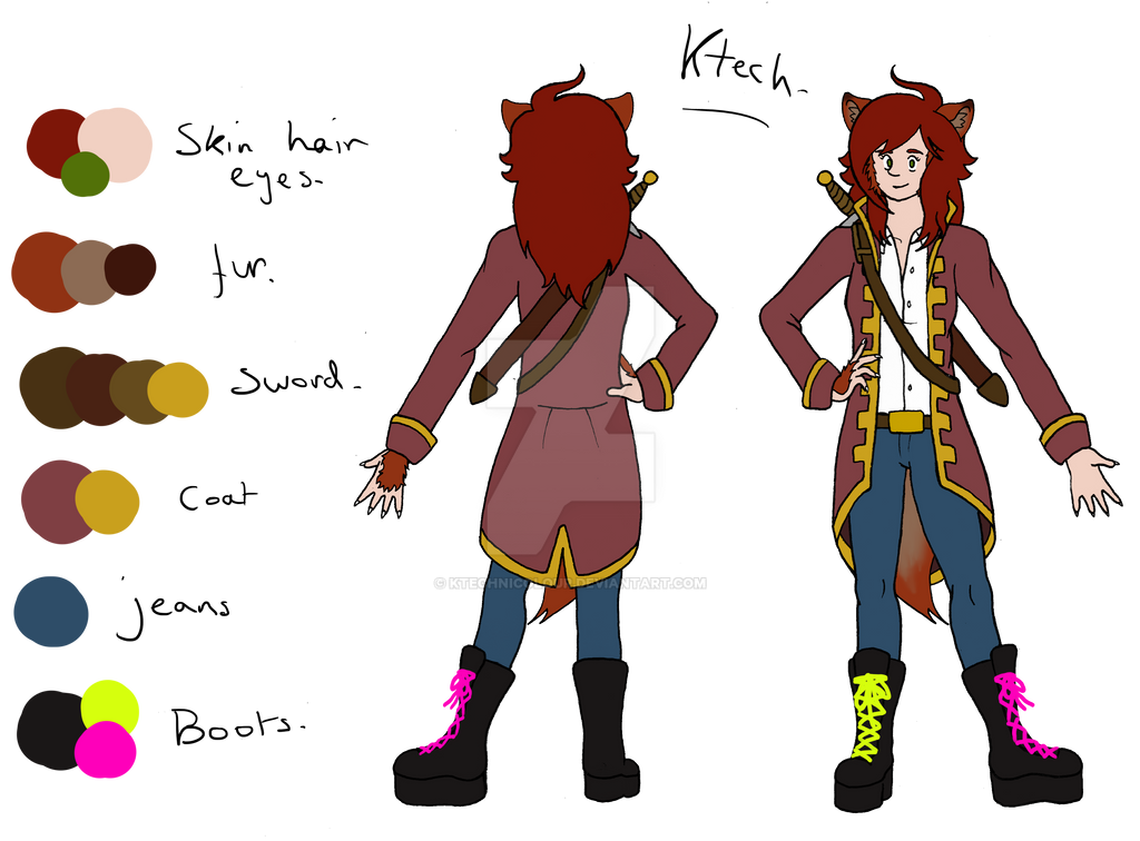 Ktech Reference Sheet by KTechnicolour