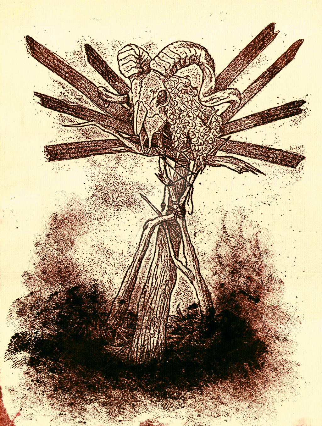 Effigy - Lithograph by KTechnicolour