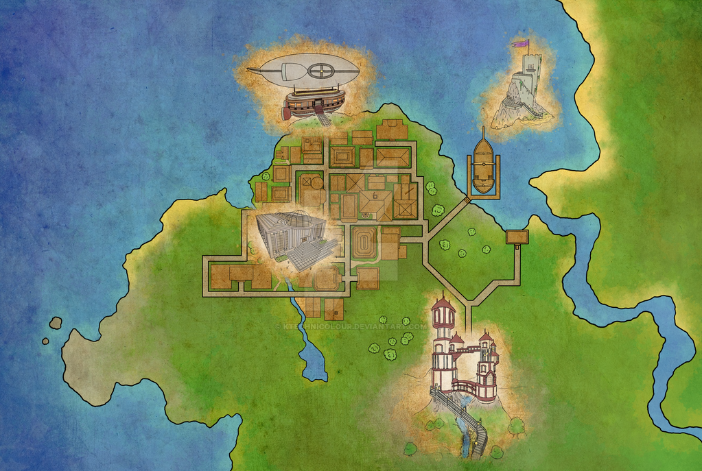 Realm Town Map by KTechnicolour