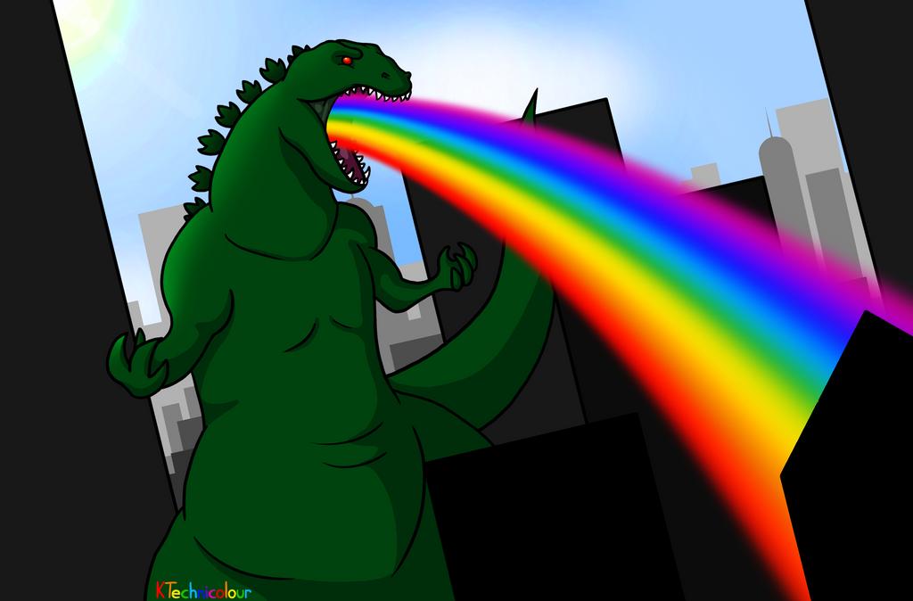 Rainbowzilla by KTechnicolour