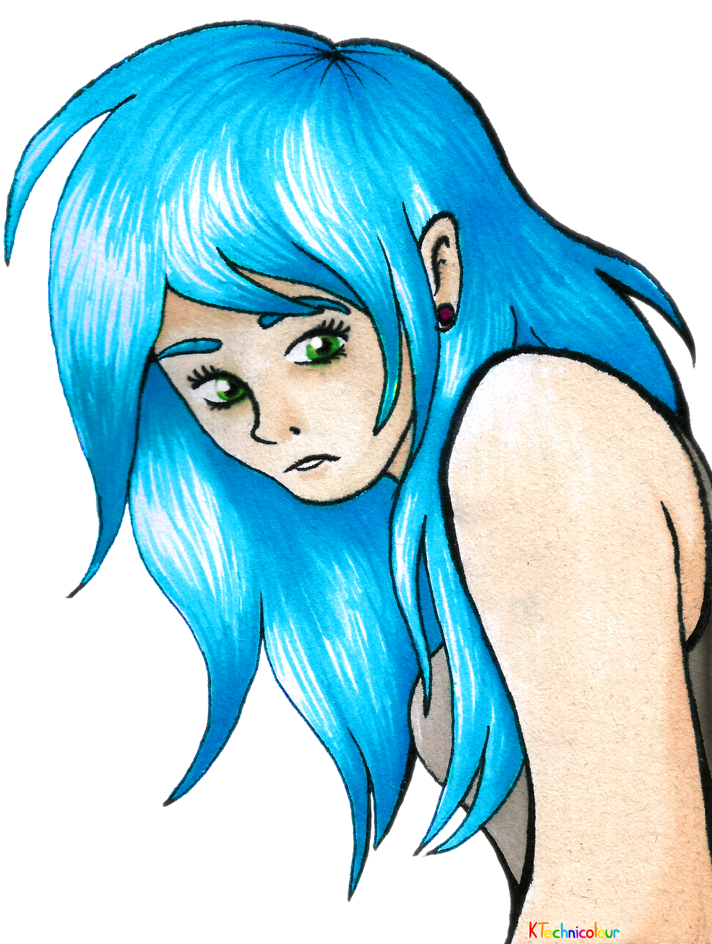 Blue Hair by KTechnicolour