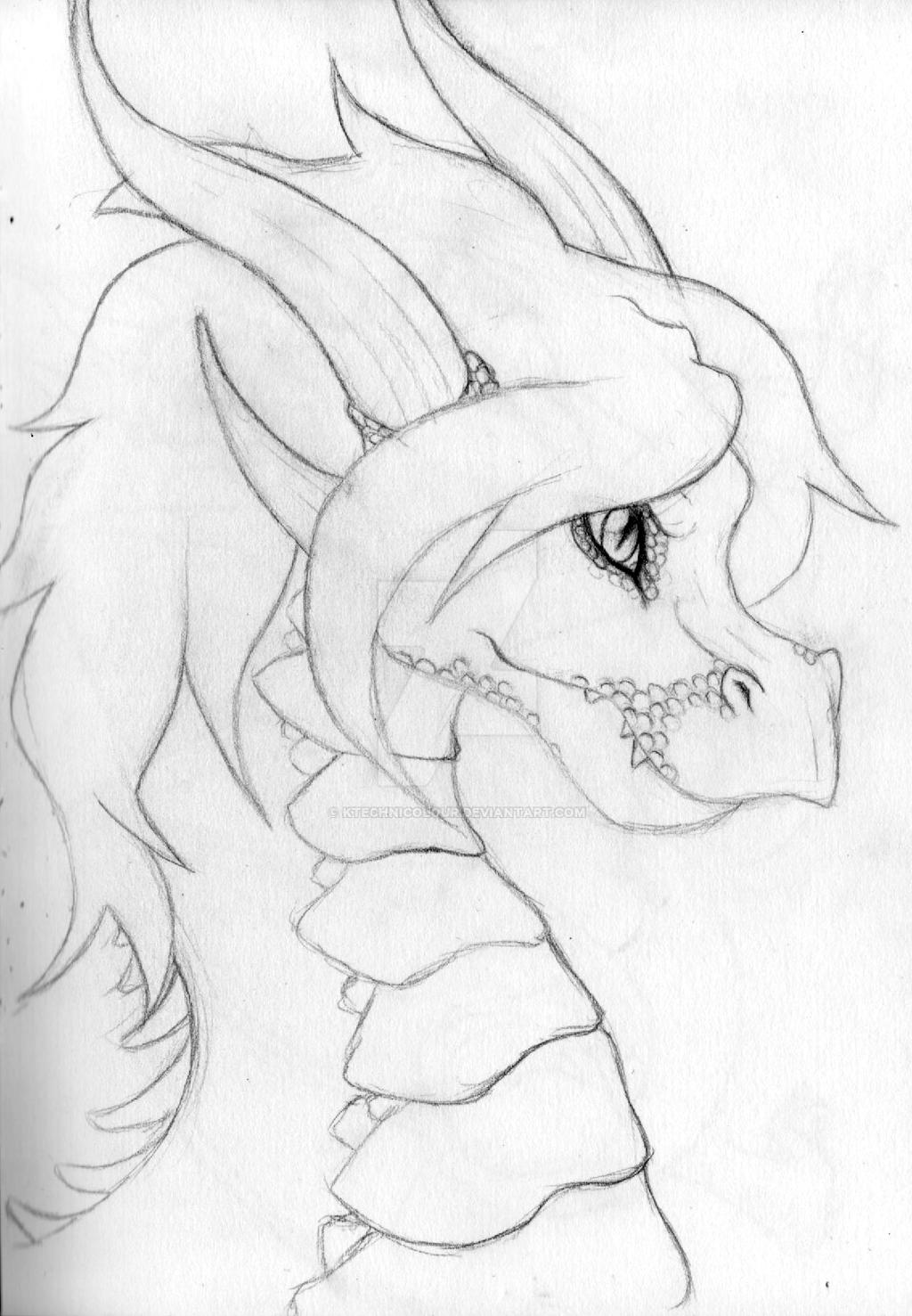 Dragon - Old Sketch by KTechnicolour
