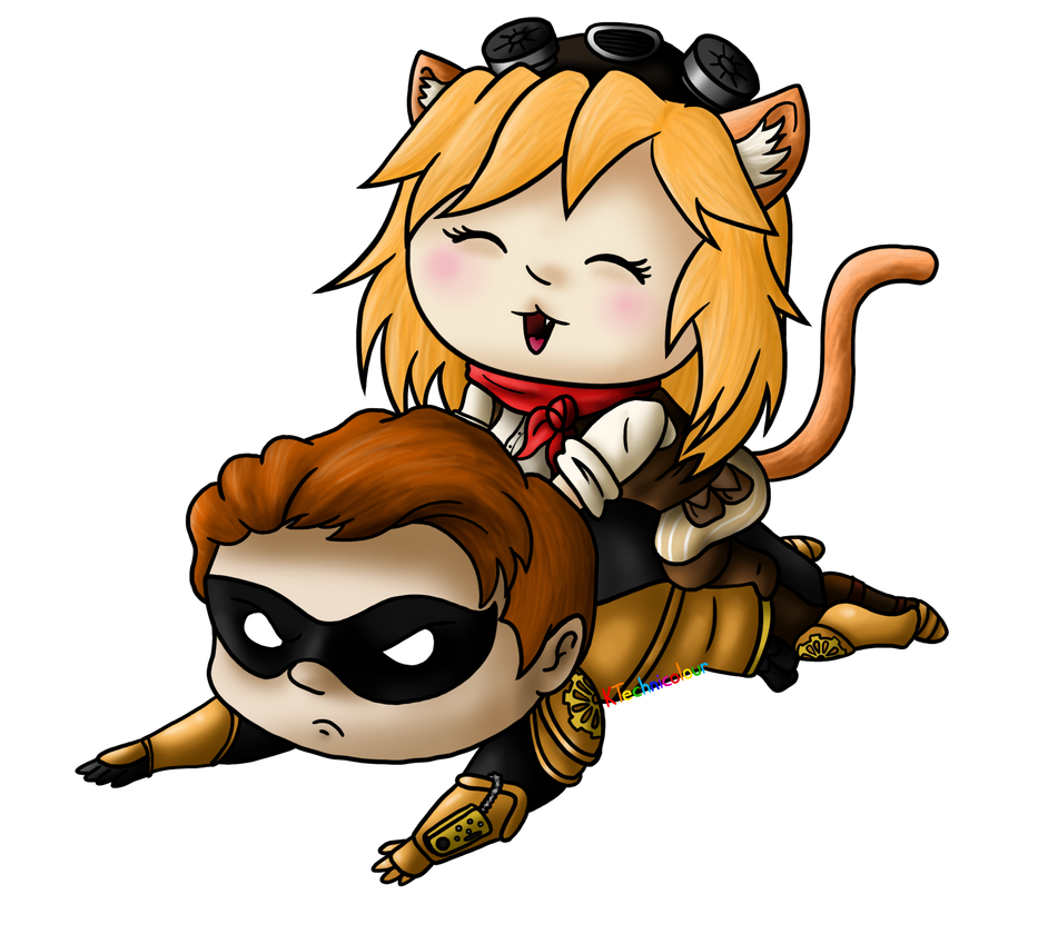Viktor and Lucky Cat -Sephirotha15-Commission by KTechnicolour