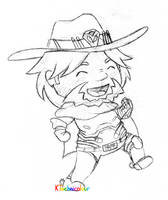 Chibi McCree by KTechnicolour