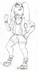Bunny Pilot Sketch by KTechnicolour