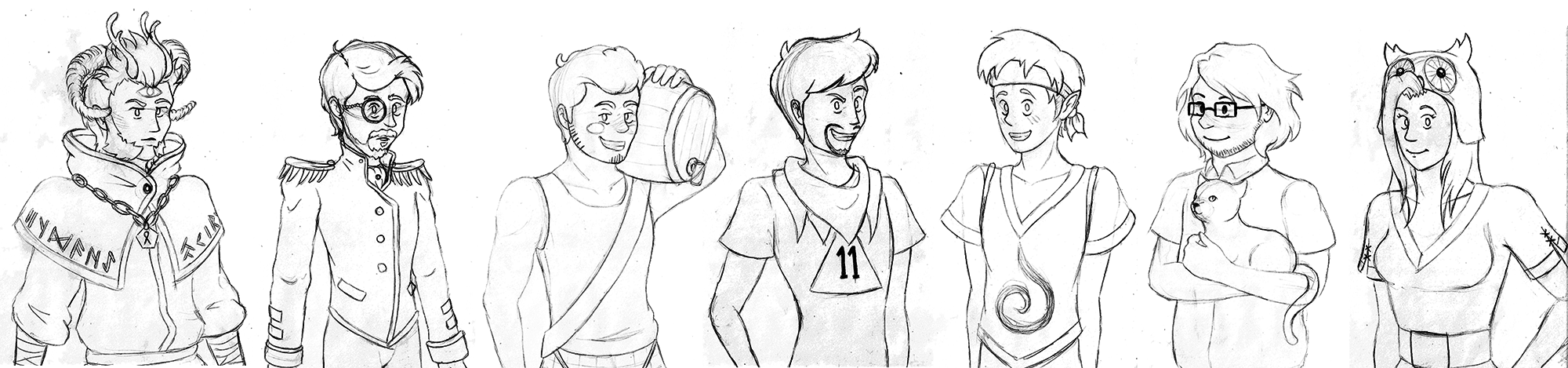 Those Yogs (and Ex Yogs) Ive never drawn by KTechnicolour