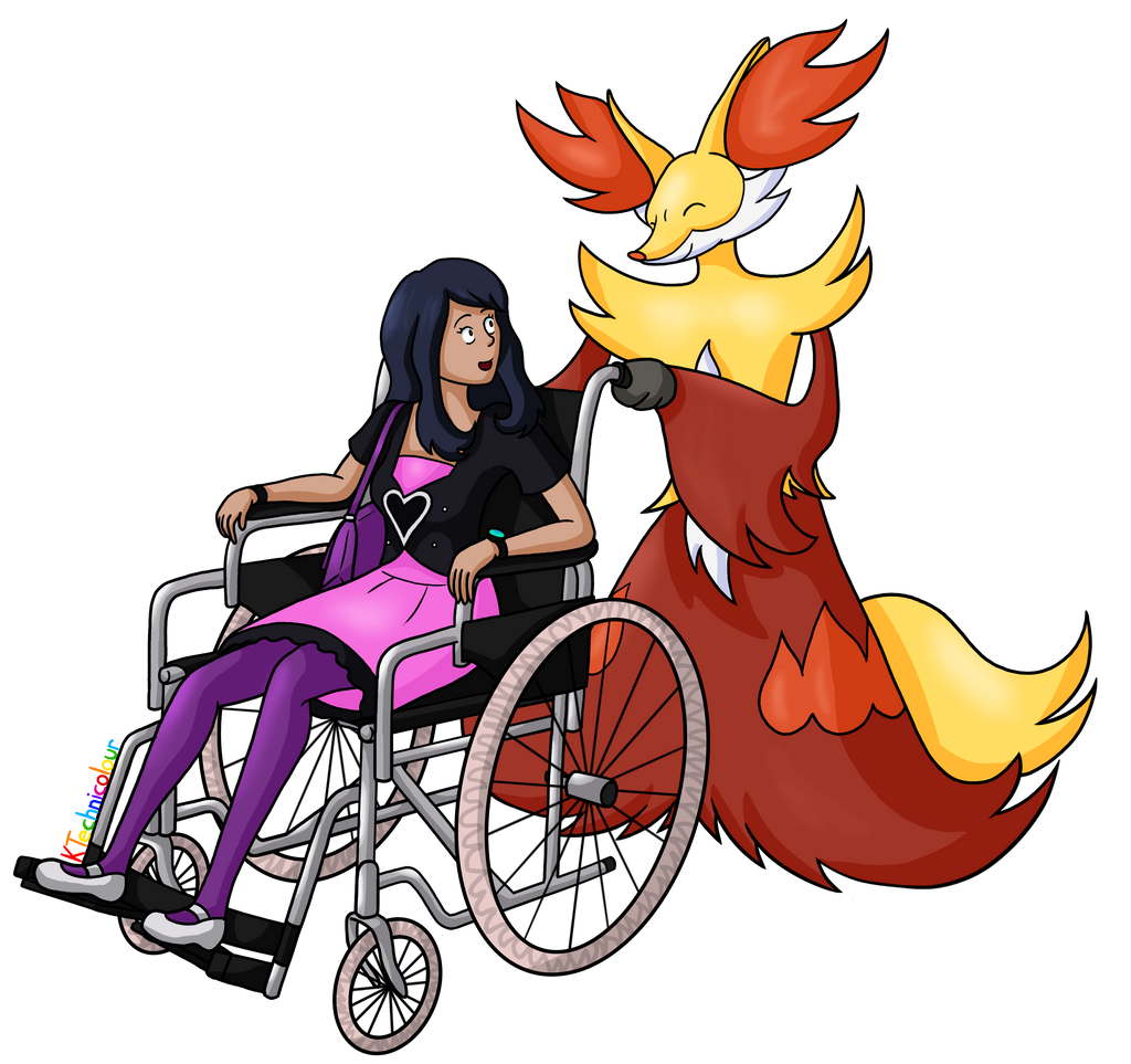 Delphox and Trainer -Sephirotha15-Commission by KTechnicolour
