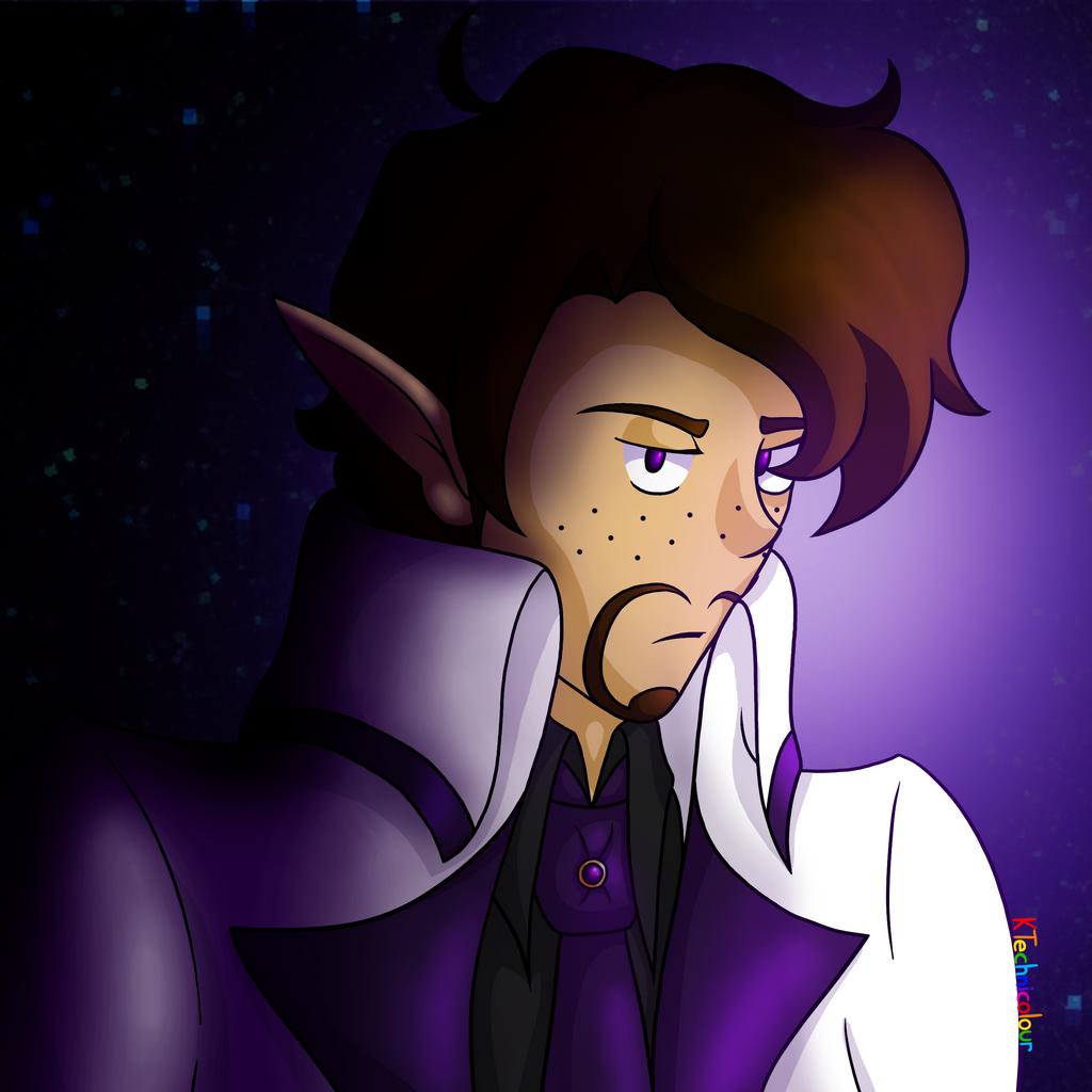 Purple Suit by KTechnicolour