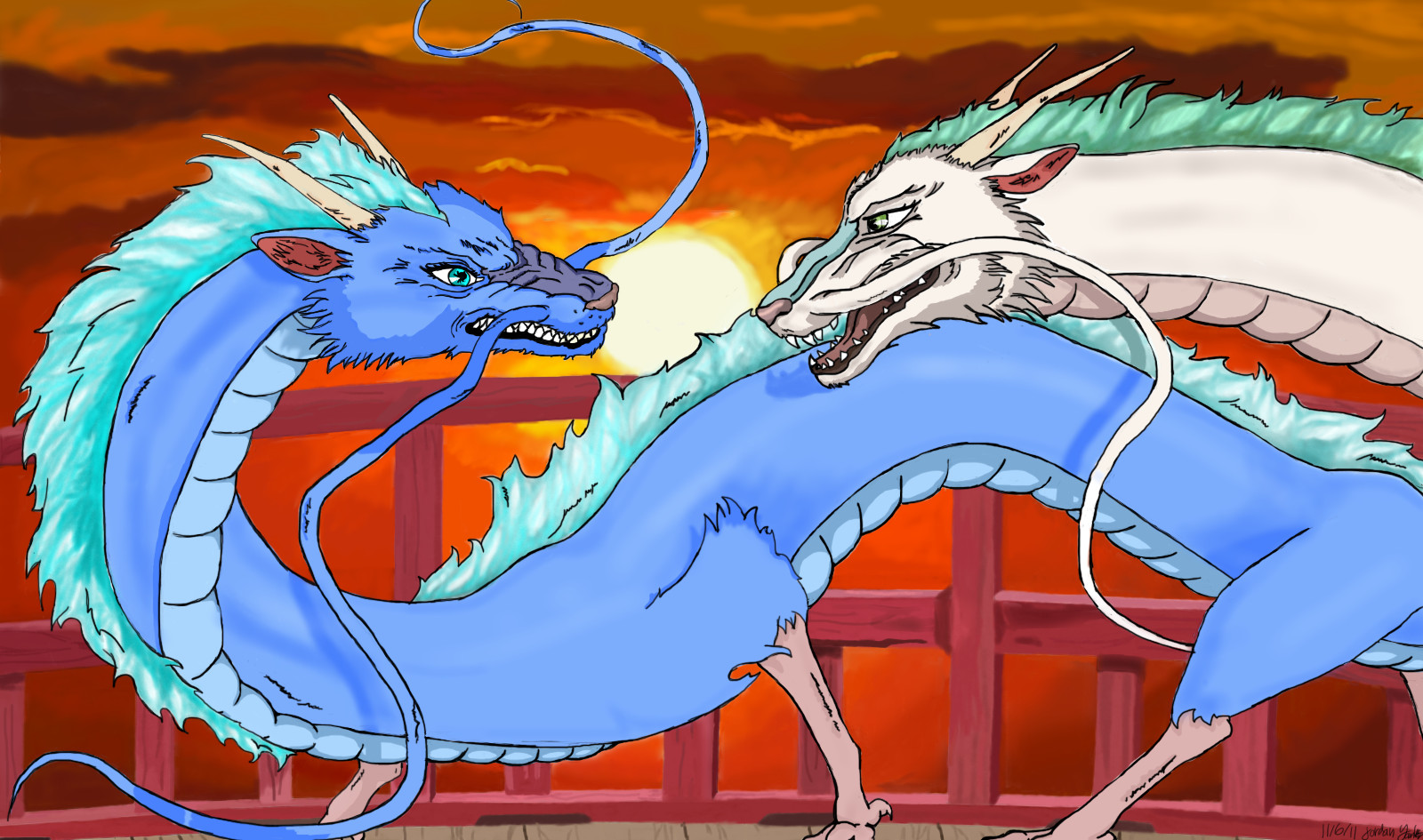 Spirited Away 2 2019 >> Spirited Away 2 - Haku fights against his own by SFGeronimo on DeviantArt