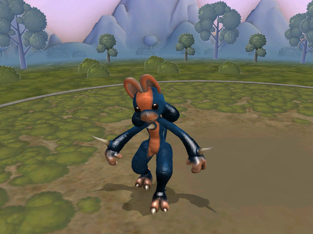 Spore screenshot- Lucario by wyvernsmasher