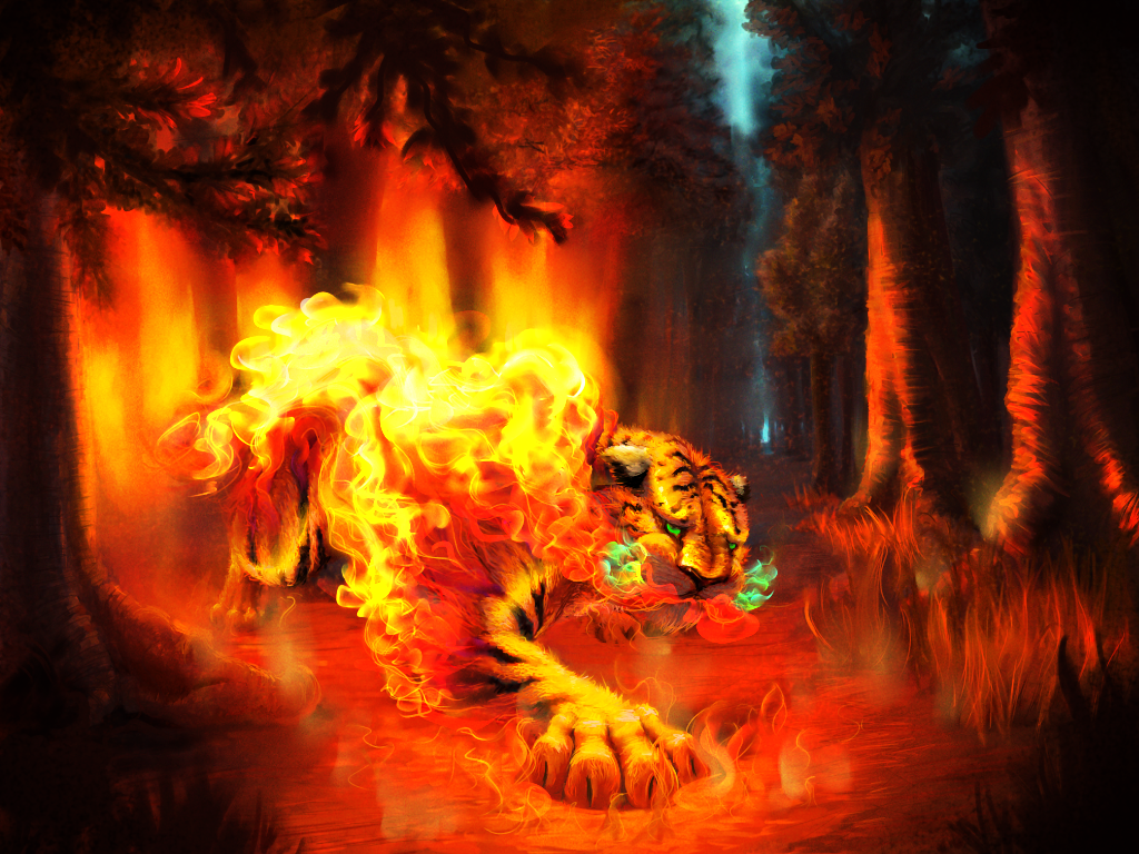 Tiger Fire By Wyvernsmasher On DeviantArt