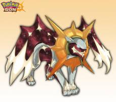 Sun legendary concept- Solgaleo by wyvernsmasher
