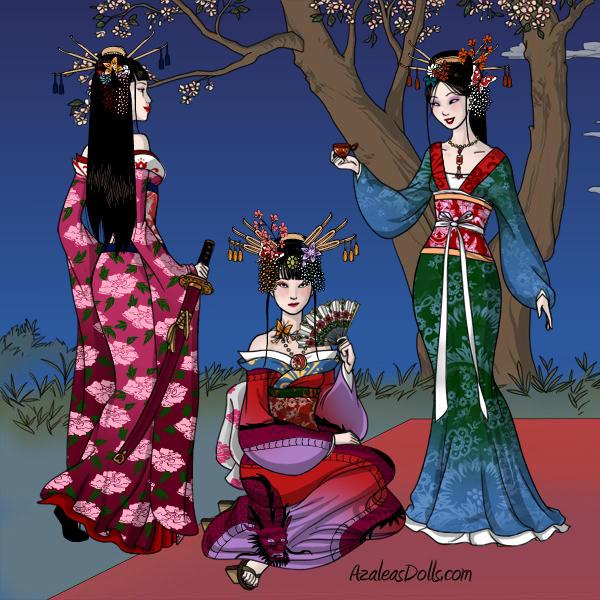 The Three Legendary Women from Japan