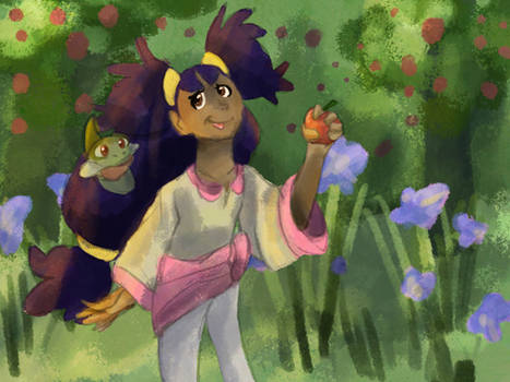 Painting irises