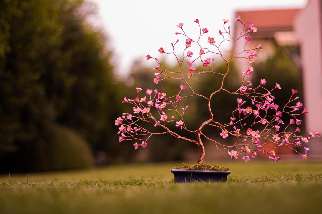Origami and copper wire cherry tree by GorgiusGo on DeviantArt - photo#23