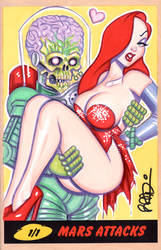 Mars Attacks Jessica Rabbit by scottblairart