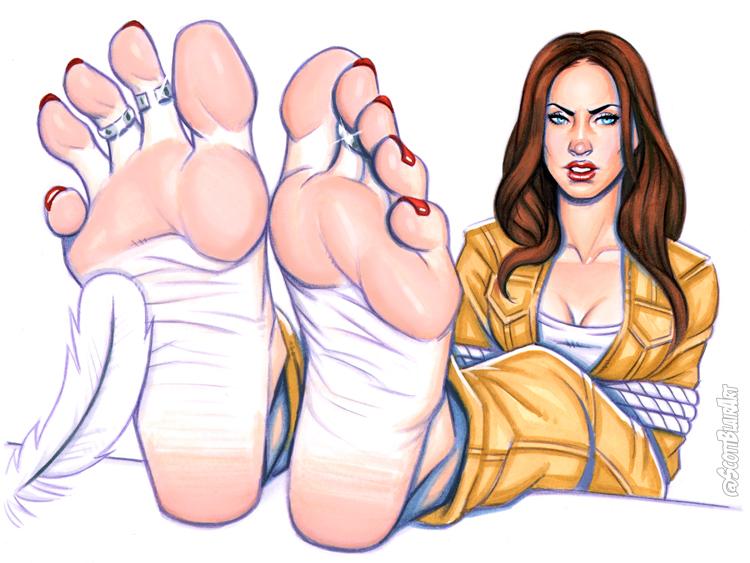 Megan Fox Barefoot Tickle by scottblairart