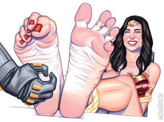 Wonder Woman Tickled by scottblairart
