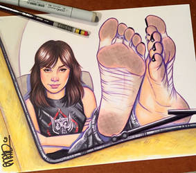 Charlie Bumblebee Barefoot by scottblairart